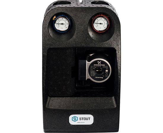 """Насосная группа Stout с 3-х ходовым приводным смесителем 1"""" (с насосом Grundfos UPSO 25-65) 29 kW [DT10 °C], фото 1"""