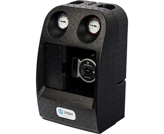 """Насосная группа Stout с 3-х ходовым приводным смесителем 1"""" (с насосом Grundfos UPSO 25-65) 29 kW [DT10 °C], фото 3"""